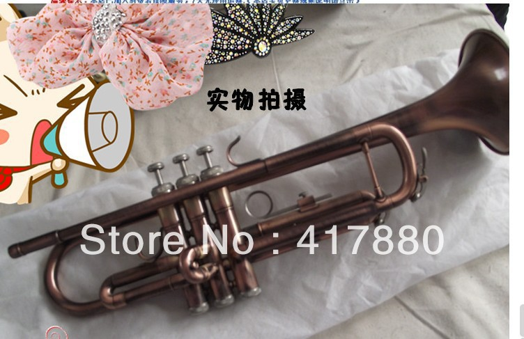 Professional Bb Trumpet Brand Small Brass Surface Green Bronze Brass Bb Trumpet Musical Top Instrument Trompeta trumpet bb bach trumpet for sale lt180s to 37 instrument b surface silver plating exquisite design durable wholesale 2016 new