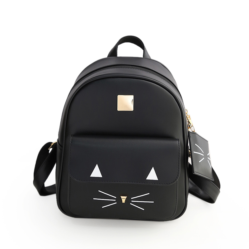 8962a5d49d ... and 1 zippered back pocket. 4.Occasion  Ladies can take the PU leather  backpack to go to school