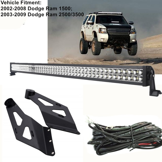For Dodge Ram 1500/2500/3500 50 inch 288W LED Light Bar With Wire