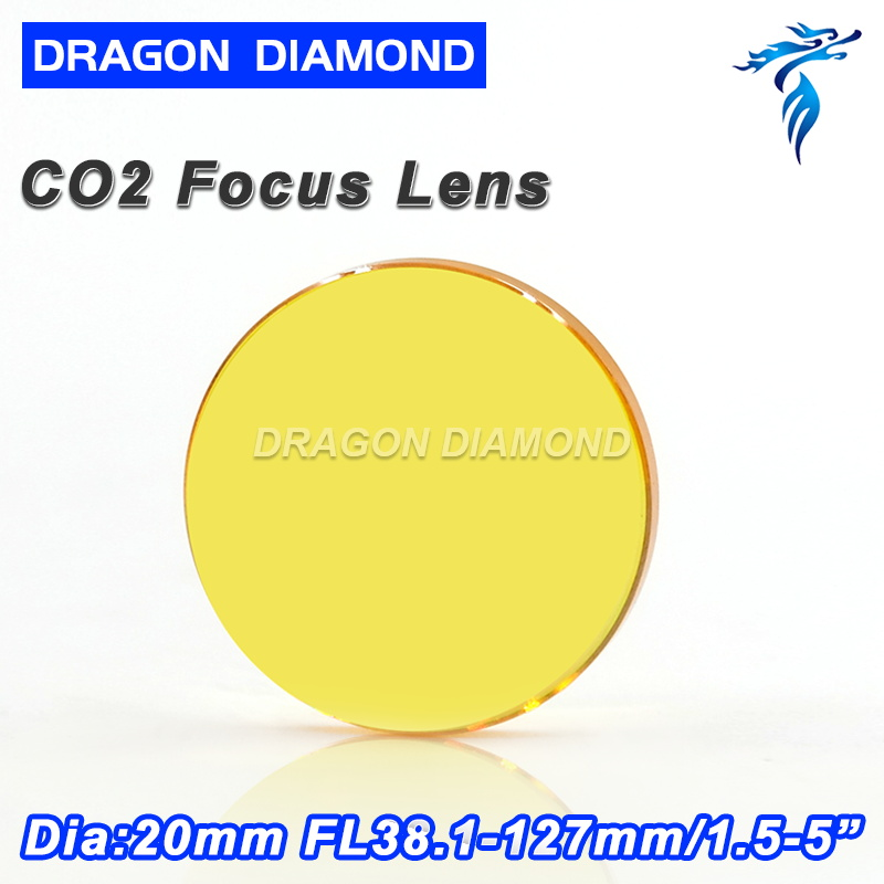 USA ZnSe Co2 Laser Lens Diameter 20mm Focal Length 38.1 50.8 63.5 76.2 101.6 127 For Laser Cutting Engraving Machine free shipping usa znse co2 laser focus lens diameter 20mm focal length 101 6mm for co2 laser cutting and engraving machine