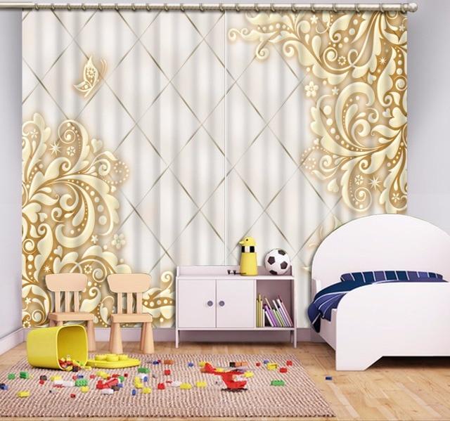 € 50.97 59% de réduction|Rideaux européens pour l\'impression de chambre à  coucher modèle de rideau 3D moderne décoration de la maison rideau de ...