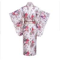 Print Floral Female Bath Robe Gown Traditional Japanese Kimono Women Evening Dress Cosplay Costume Casual Home Wear Yukata
