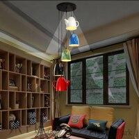 ARK LIGHT Led Loft Industrial Vintage Colorful Iron 5 TEAPOTS Personalized Bar Lighting Pendant Lamp For