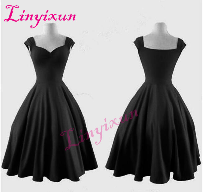 2018 Vintage Black Red Short Homecoming Dresses Queen Anne Sweetheart A Line Evening Party Dresses for Girls