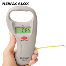 NEWACALOX 45kg x 10g Mini Electronic Scale Weight Fishing Luggage Scale Digital Travel Hanging Hook Scale with Band Tape