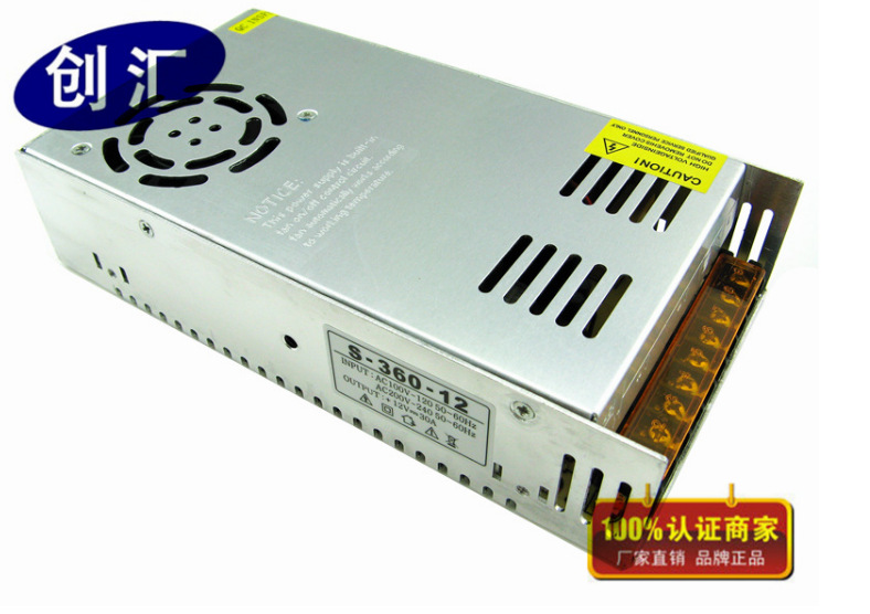PWM AC / DC Switching power 12V 30A 360W Switching Monitor the Power Supply Switch Driver LED Power Supply AC 100 240V