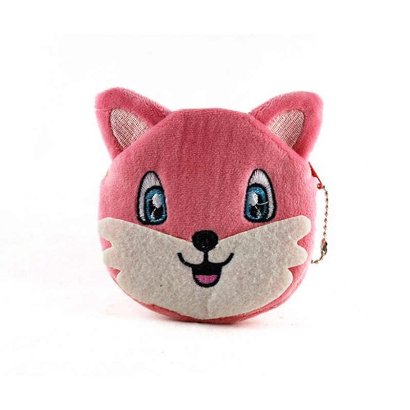 Novo Colorido Dos Desenhos Animados Fox Crianças Coin Purse Meninas Saco de Moeda Senhora bonito Mini Carteiras Bolsa Da Menina Das Mulheres Maquiagem Saco de Buggy Para O Presente