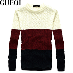 Gueqi new fashion man wool sweaters size l 2xl good brand patchwork design 2017 men warm.jpg 250x250