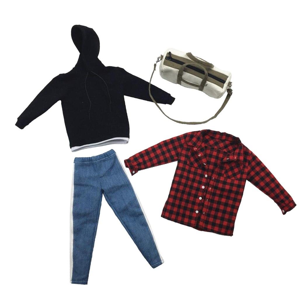 1//6 Scale Man Stylish Clothings Jean Jacket for 12/'/' Hot Toys BJD Model Body