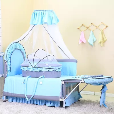 Multi-function baby  bed shaking table bed folding children bed portable  cradle bed nets export portable folding newborn cradle multi function baby bed game bed table boy