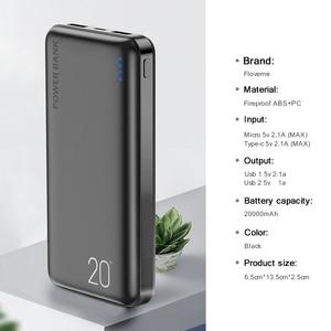 Image 5 - FLOVEME כוח בנק 20000 mAh נייד טלפון חיצוני סוללה Powerbank מטען נייד 20000 mAh עבור iPhone 11 Xiaomi Mi Poverbank