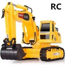 Электрический инженерных машин, игрушки, 1:24 Беспроводной экскаватор, 8 канальный пульт дистанционного управления, экскаватор