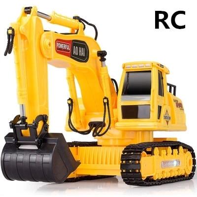 1:24 Drahtlose Bagger 8 Kanal Fernbedienung Elektrische Engineering Fahrzeuge Spielzeug Bagger Lkw Freies Verschiffen Billigverkauf 50%