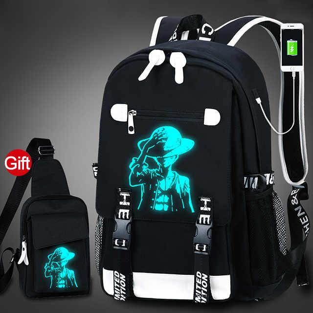 طالب حقيبة المدرسة 3D مضيئة الرسوم المتحركة USB تهمة حقيبة مدرسية لل صبي مراهق مكافحة سرقة الأطفال على ظهره مدرسية