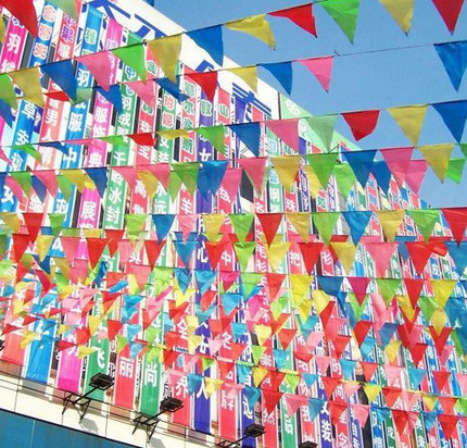 Rainbow Bunting Flag Of Wedding Kids 20PCS Colour Outdoor Party Decorations