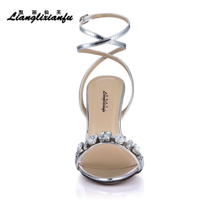 Diamantes Partido Llxf Cruz Tacones Stiletto Delgados Bombas Sandalias Plata Oro Zapatos 11 Correa Verano plata Sexy Cm Mujer Oro rYx7Iq6r