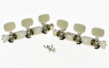 KAISH Nickel Classical Guitar Tuners Acoustic Tuning Keys Pegs w/ 1 Hole Metal Shafts