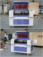 cnc laser co2 6090 cnc laser cutting head AKJ6090 Ruida RDC6442s control system