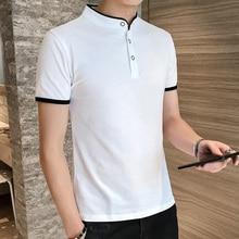 High Quality 2019 new fashion cotton solid slim white men polo shirt short sleeve summer vintage top harajuku minimalist clothes
