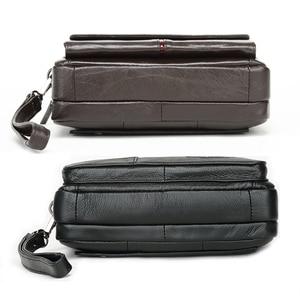 Image 5 - Мужские Клатчи из натуральной кожи, мужские длинные бумажники для денег, мобильный телефон, вечерние клатчи, кошелек для монет