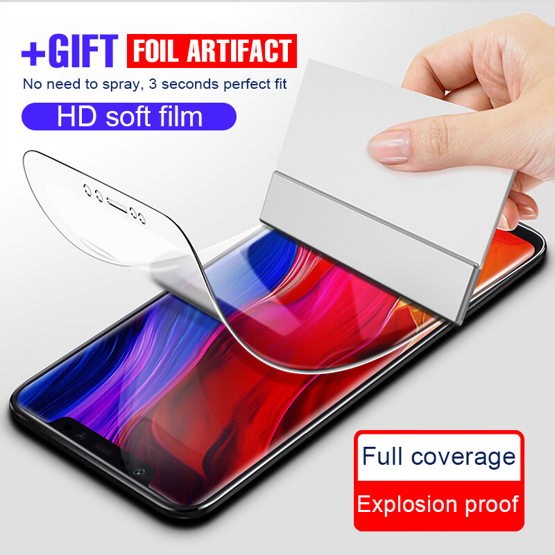 8D Full Cover Soft Hydrogel Film For Xiaomi Mi 8 Lite Mi 9 SE Mix 3 Max 3 Screen Protector Film Redmi Note 8 7 6 K20 Pro 7 Film
