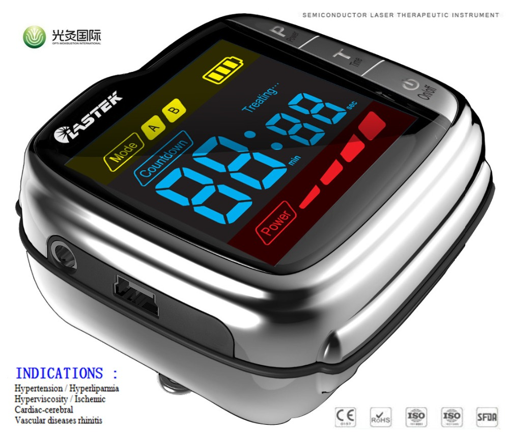 lllt cold red light GD07-W-1 LASTEK laser therapy watch to control blood pressure цена
