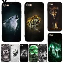 Yinuoda Fierce Wolf and Tiger Coque Shell DIY Colorful Phone Case for iPhone 7 X 6 6S 8 Plus 5 5S SE 5C 11 11pro 11promax