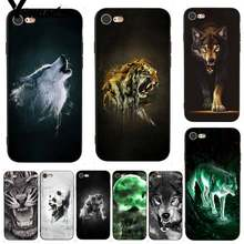 Yinuoda Fierce Wolf und Tiger Coque Shell DIY Bunte Telefon Fall für iPhone 7X6 6S 8 Plus 5 5S SE 5C 11 11pro 11promax(China)