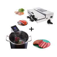 1 Set Food Vacuum Sealer + Sous Vide Food Cooker Machine Immersion Slow Cooker Household And Commercial Vacuum Packing Machine|Food Processors| |  -
