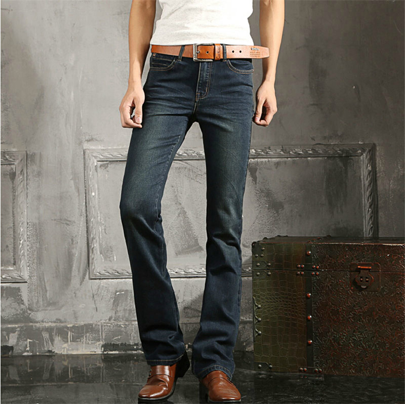 ФОТО New arrival mens flared jeans men's bell bottom denim jean flare pants Plus Size 27 36