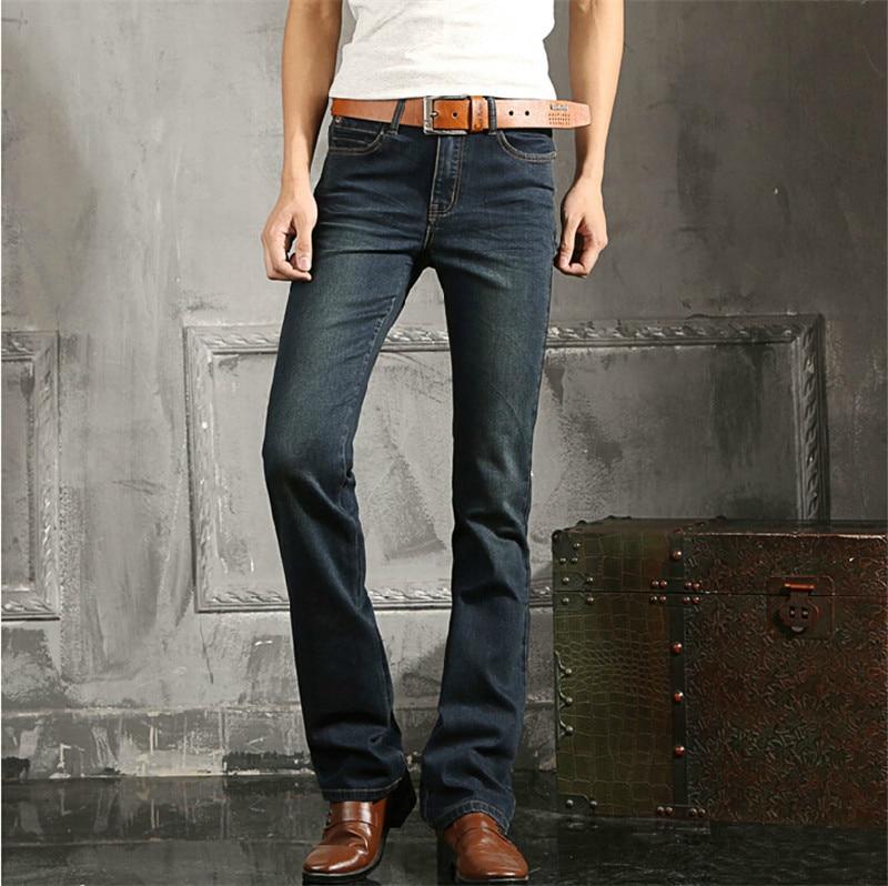 ФОТО New arrival mens flared jeans men's bell bottom denim jean flare pants Plus Size 27 36