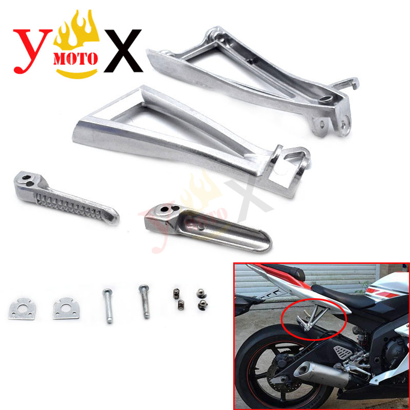 Motor Front Rider Foot Pegs Rest Footrest Bracket For Yamaha YZF R6 2006-2011 10