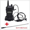 Rádio portátil Baofeng UV-82 VHF Walkie Talkie Dual Band Preto/Presunto UHF Rádio Transceptor Baofeng UV 82 w/NA-771 SMA-F antena