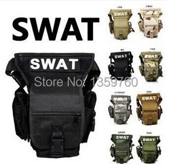 Prix pour 2017 réel multifonctionnel swat waist pack leg bag tactique sports de plein air tour étanche militaire Chasse sacs en gros