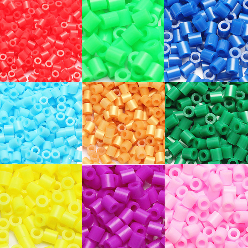 1000pcs EVA 5mm Hama Beads Toy DIY Mini Perler Beads Set Creative Educational Beads 3D Puzzle Toys For Children