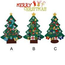 Сила войлока Рождественская елка с милыми орнаментами дверь Настенное подвесное украшение Новый год Рождество Дети Рождественские подарки