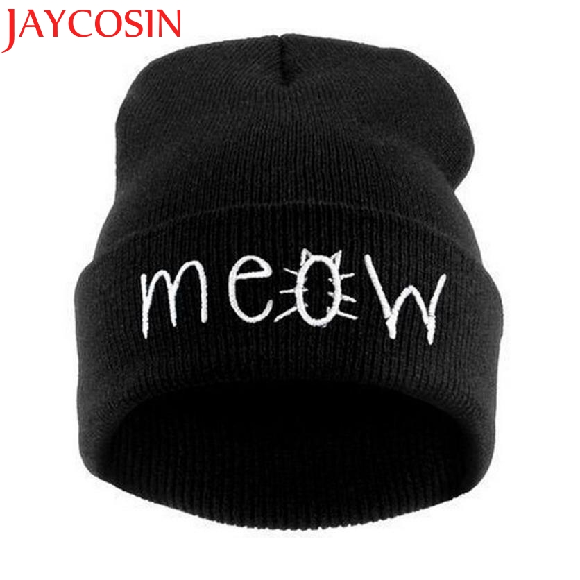 JAYCOSIN Skullies Beanies Winter Hat pom pom Cap For Women Girl Vintage Solid Hemming Warm Spring Autumn Hat Female skullies
