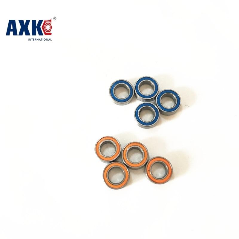 5PCS 4X7X2.5 Blue/Orange Rubber Bearings ABEC-5 MR74 2RS коньки onlitop abec 5 35 38 blue 869370 защита