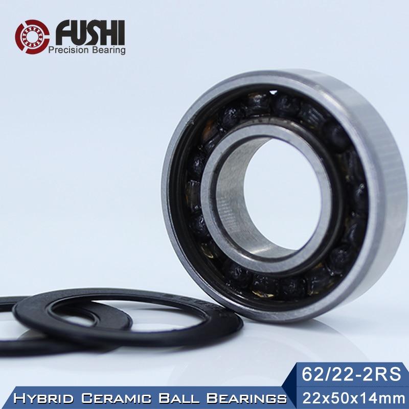 62/22 Hybrid Ceramic Bearing 22*50*14 mm ( 1PC ) Race Bike Front Rear Wheel 62 22 2RS LUU Hybrids Si3N4 Ball Bearings 62/22RS велосипед cube cross race c 62 sl 2019