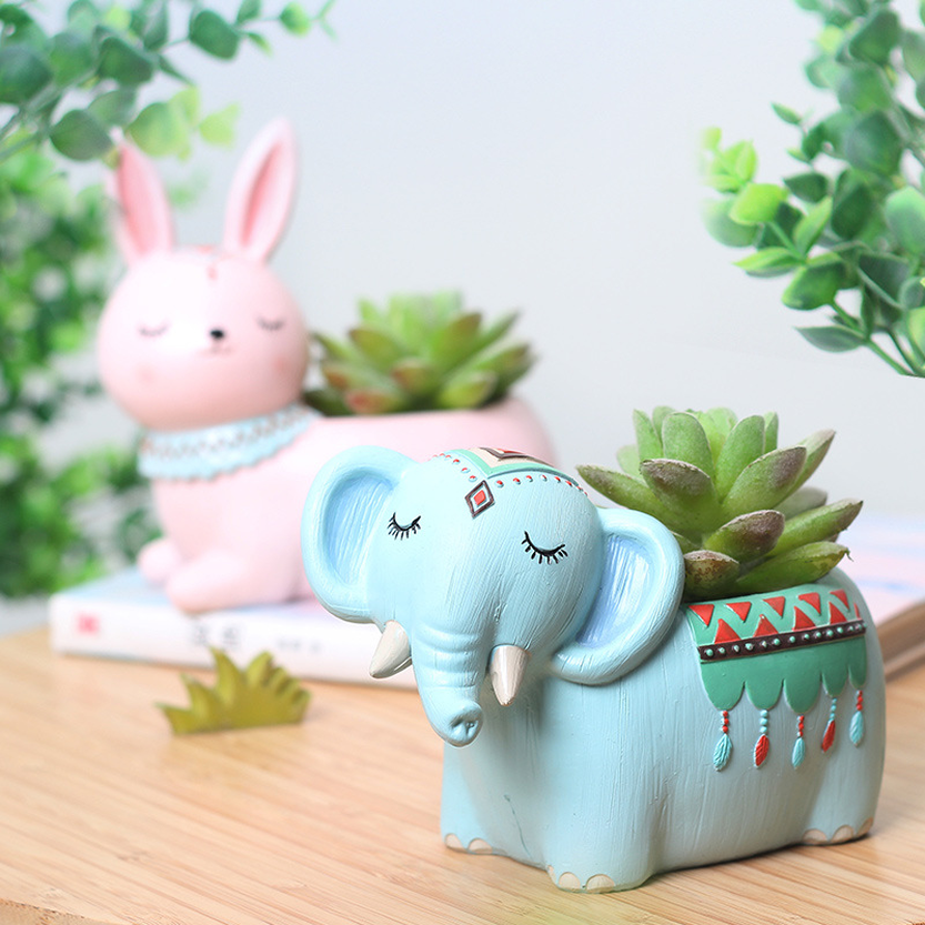 Cartoon Résine Plante Pot De Fleur Succulent Conteneur Planter Bonsai Home Decor pot