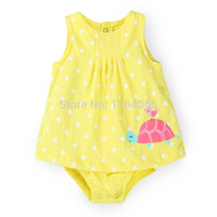 SD1-012, Original, Baby Girls Rompers, Sleeveless, Nice Embroidered, Soft Feeling, Free Shipping