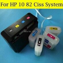 VAZIO Ciss Sistema de tinta Para HP10 82 Com ARC Chip de Alta Qualidade Para HP Designjet 500 800 500 ps 800 ps 815 Impressora Para HP 10 82 Ciss