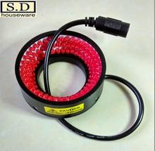 Machine Vision LED Ring Light Source 40mm Aperture Red Adjustable Brightness Industrial  Inspection