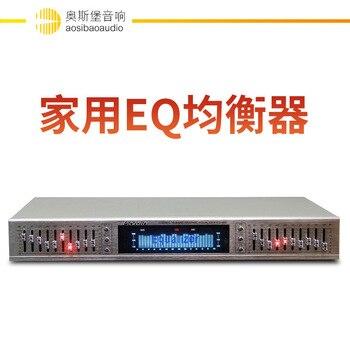 Новое поступление, EQ665, эквалайзер Hi-Fi, домашний эквалайзер, сбалансированный миксер, двойной 10-сегментный стерео тройной регулятор басов Alto