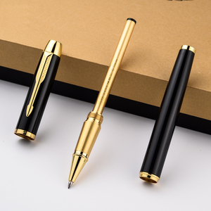 Image 4 - Luxury Business Replaceable refills Ballpoint pen Golden Clip Ball pen for gifts Office Signing Pens Stationery supplies 2007