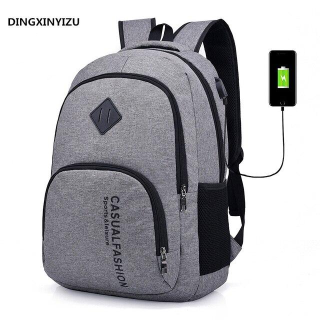 535de43cd3 DINGXINYIZU USB Rechargeable Backpack Men s 15 inch Laptop Backpack Fashion  Travel School Bag Woman Print Backpack a dos mochila