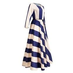 """Kobiety w paski sukienka w dużym rozmiarze elegancka długa plaża sukienka w dużym rozmiarze pół rękaw sukienka z dekoltem w kształcie litery """"o"""" tunika czeski sukienka Slim powołanie sukienki 3"""