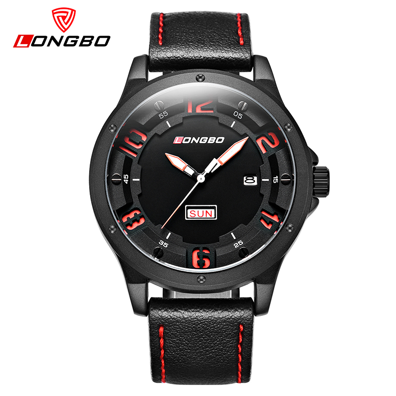 LONGBO Top Brand Luxury Military Army Quartz Watch Men Clock Waterproof Sports Wristwatches Leather Relogio Masculino 3009 ecotime relogio 3009