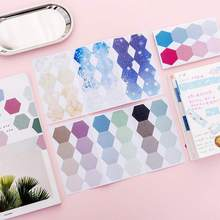 Office Decoration Cute Hexagonal Sticker Post It Bookmark Paper Memo Marker Point Flags Sticky Notes Writing Label Stationery
