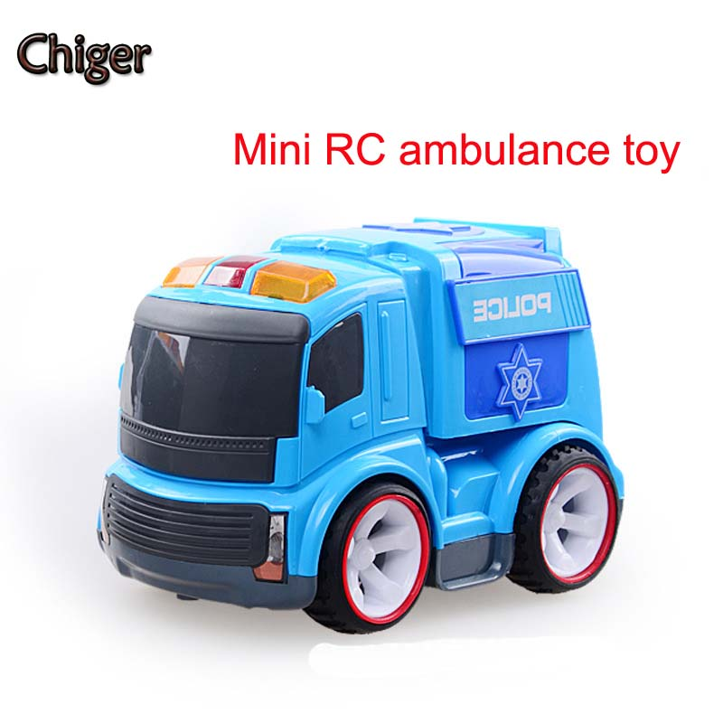 New hot 1:20 Electric remote control korean cute ver rc city service cop car for Children Toys model 120 Ambulance Van gifts